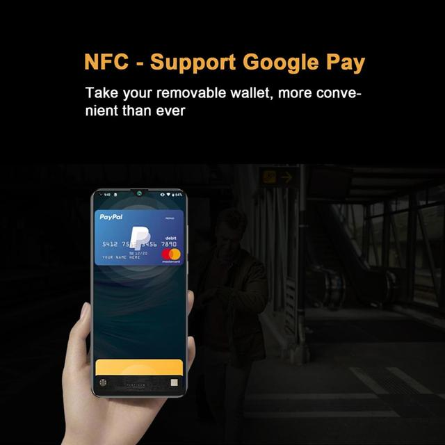 CUBOT Note 20 Mobile Phone  6.5″ HD Display 4200mAh Battery NFC Smart Phones Android 10.0 Rear Quad Camera Cellphones 64gb Rom 6
