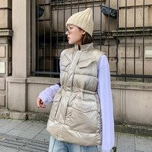 Женский однотонный Свободный жилет на осень и зиму длинная куртка