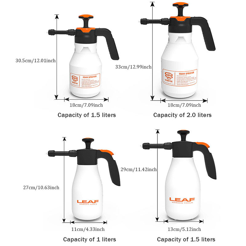2L Plastic Foam Watering Can Pressure Type Small-scale Sprayer Car Cleaning High Pressure Watering Can Window Cleaning Tool-1