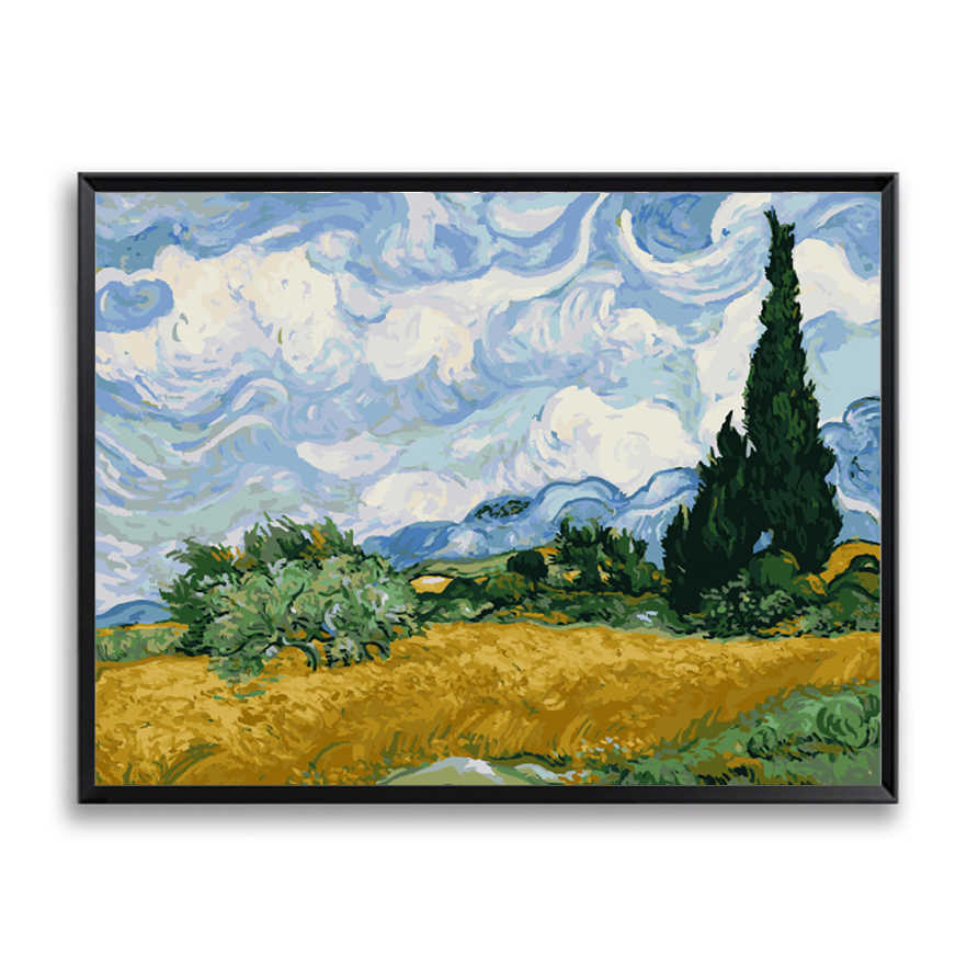 2019 Van Gogh Picture Oil Painting By Numbers Starry Sky Abstract Wall Art DIY Digital Canvas Paint Home Decor Living Room
