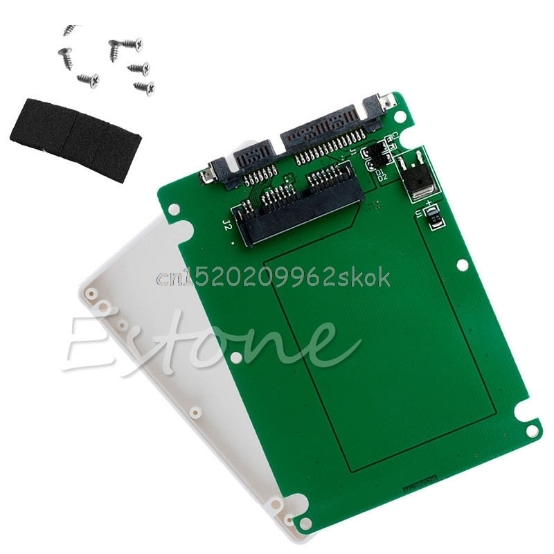 """1.8"""" Micro SATA SSD HDD to 2.5"""" SATA Adapter Converter Card with 7mm Thick"""