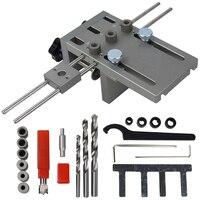 Professionelle Holzbearbeitung Punch Locator Holz Doweling Jig Einstellbare Bohren Guide für DIY Möbel Anschluss Position Werkzeuge-in Bohrkronen aus Werkzeug bei