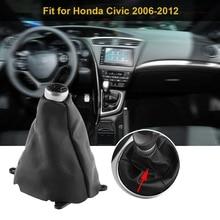 1 шт. Черный Автомобильный рычаг переключения передач гетры загрузки пылезащитный чехол Замена передач Чехол для коробки передач подходит для Honda Civic 2006-2012