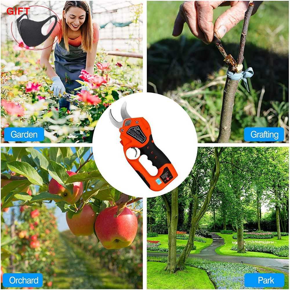 Tools : Cordless Pruning Shears Tree Cutter Protable 6 Lithium Battery 1 2 Inches Cutting Diameter Garden Electric Tree Pruning Tools