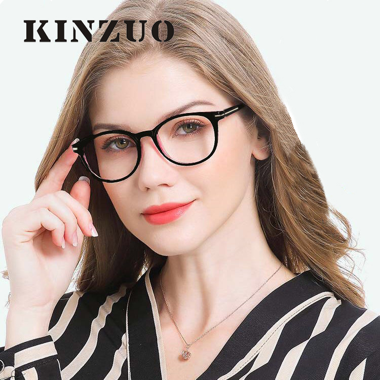 KINZUO 2019 Fashion High Definition Oval Frame Reading <font><b>Glasses</b></font> Men and women Diopter +<font><b>1.0</b></font> to +4.0 Eyeglasses 18146-1 image