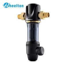 Wheelton ön su filtresi mekanik geri yıkama korumak cihazı (ters osmoz su arıtıcısı, ısıtıcı, vb.) 40UM arıtma