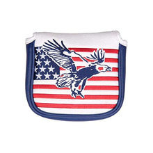 Putter-Head-Cover Golf-Club Magnetic And with Usa-Flag Eagle