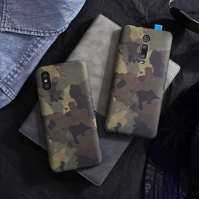 Retro camouflage Plastic hard shell case For xiaomi MI 9 MI9 SE, MI8 MIX3 MIX2S mi10pro K20 PRO 9T PRO