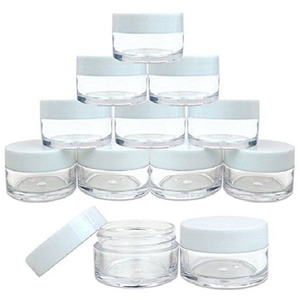 Image 5 - 10pcs 2g/3g/5g/10g/15g/20g Plastic Clear Cosmetic Jars Container White Lid Lotion Bottle Vials Face Cream Sample Pots Gel Boxes