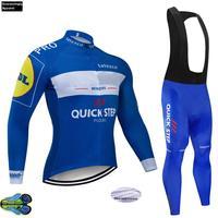 Passo rápido equipe de inverno 2019 ciclismo camisa 12d bicicleta calças definir homens ropa ciclismo térmica velo roupas ciclismo wear|Kits ciclismo| |  -