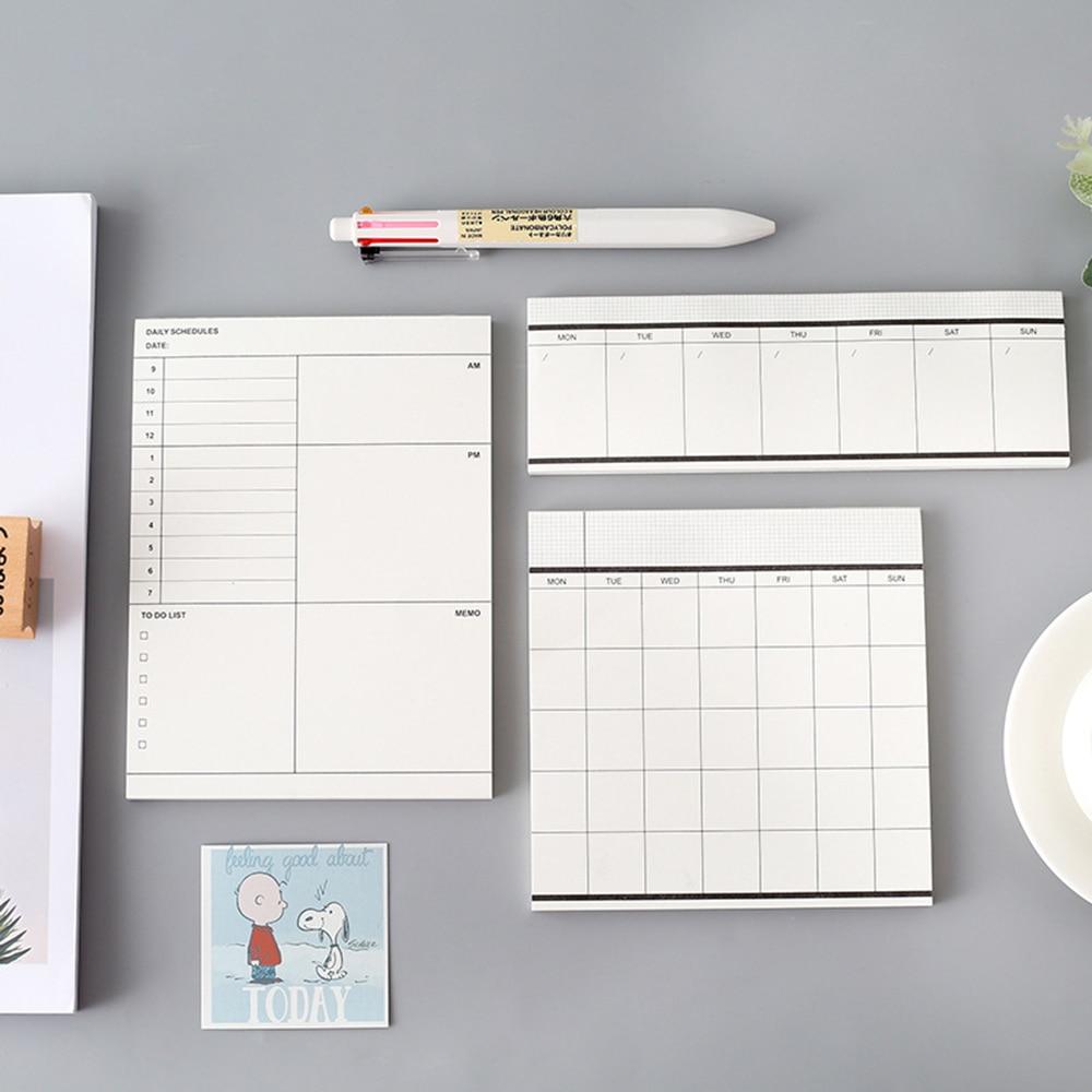 Weekly Monthly Plan Tear Notebook Check List Daily Schedule Memo Pad Message Note Work Schedule Desktop Scratch Pad Memos Book