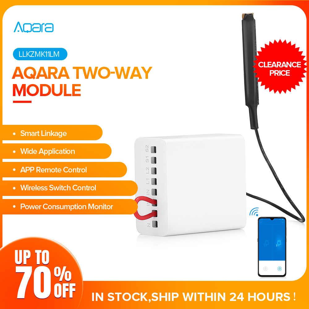 Módulo de dos vías Aqara, temporizador de configuración inteligente, aplicación de Control One Control, dispositivo múltiple para aplicación Mijia y módulo de Control de Kit de casa, gran venta