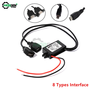 DC-DC 12V to 5V 3A 15W Car Power Converter Micro Mini USB Step Down Voltage Power Supply Output Adapter with Reverse Protection