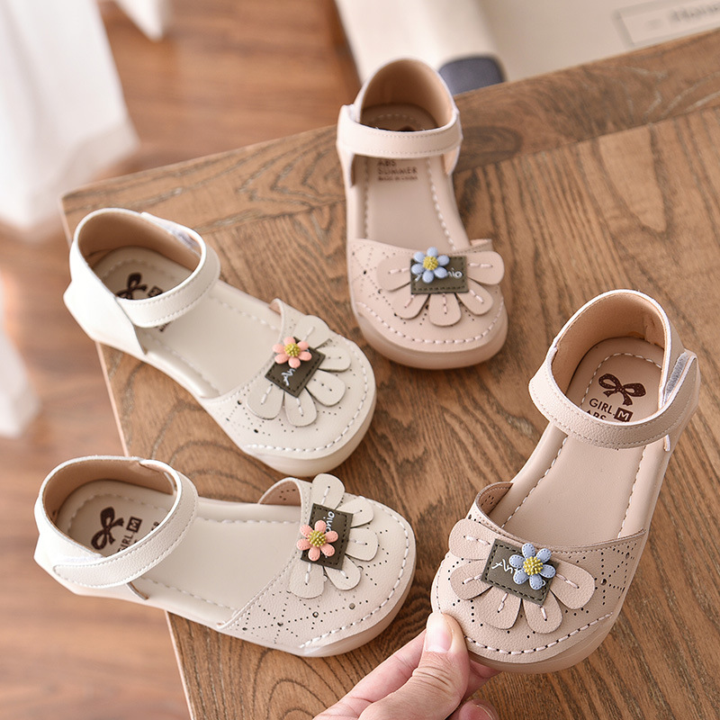 2020 New Brand Summer 3D Flowers Girls Sandals Children Baby Girls Princess Sandals Party Children's Shoes Girl Sandals D02282