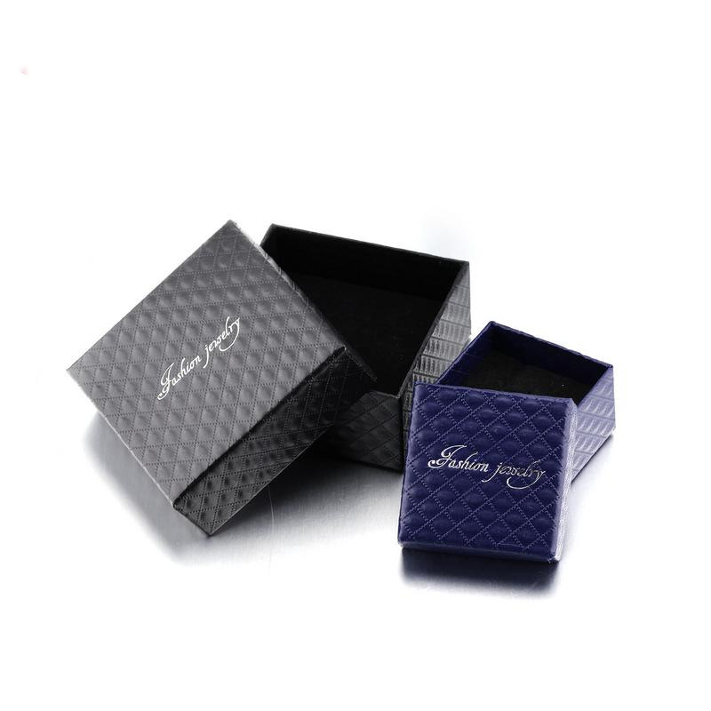 Fashion Jewelry Gift Box Pendant Case Display For Earring Necklace Ring Chain Bracelet Jewelry Boxes Black Blue Accessories