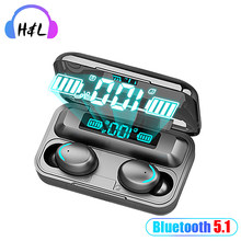 Novo f9 tws bluetooth 5.0 fones de ouvido sem fio 8d estéreo alta fidelidade à prova dhifi água caixa carregamento com microfone