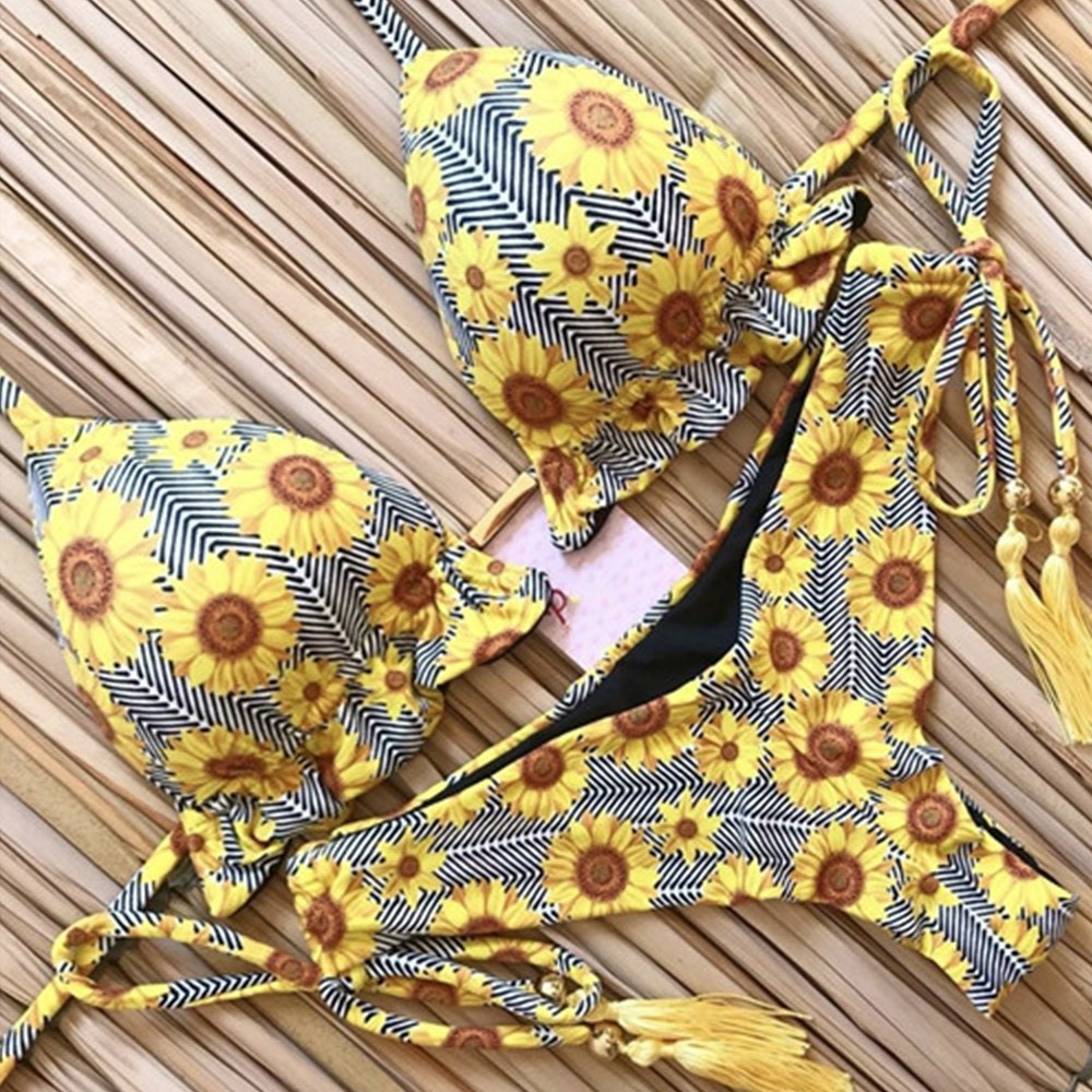 Brazilian Push Up Bandage Bikini Swimsuit 1