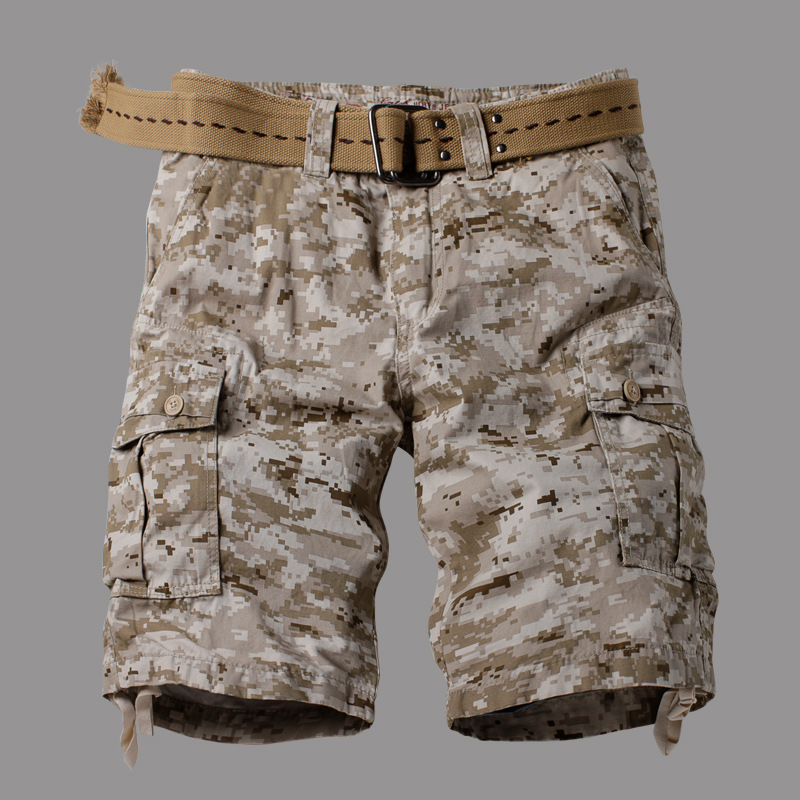 AKARMY Desert Camouflage Shorts Europe And America Soldiers Tough Guy Military Men Acu U Digital Camouflage Pants