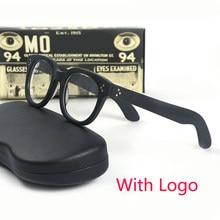 Johnny depp vilda óculos masculino feminino retro óculos de armação acetato lente transparente marca designer computador
