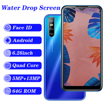 A2 global quad core smartphones 4G RAM 64G ROM 13MP 6 26 #8243 IPS android mobile phones 2SIM cheap celulares WCDMA FACE ID unlocked cheap NoEnName_Null Detachable CN(Origin) Face Recognition 3000 Adaptive Fast Charge english Russian German French Spanish Portuguese
