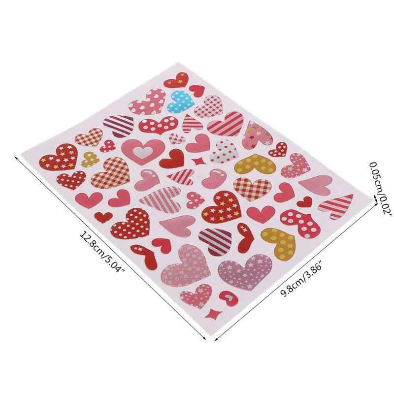 10 yaprak kalp çıkartmaları aşk dekoratif Sticker çocuklar zarflar kartları zanaat Scrapbooking parti iyilik ödül sınıf ödülleri ödülü