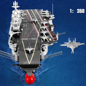 Image 2 - SEMBO DHL 3010pcs Aircraft Toy Carrier 1:350 Model Building Blocks Military Army Warship Cruiser Bricks Set Models Kids Gift