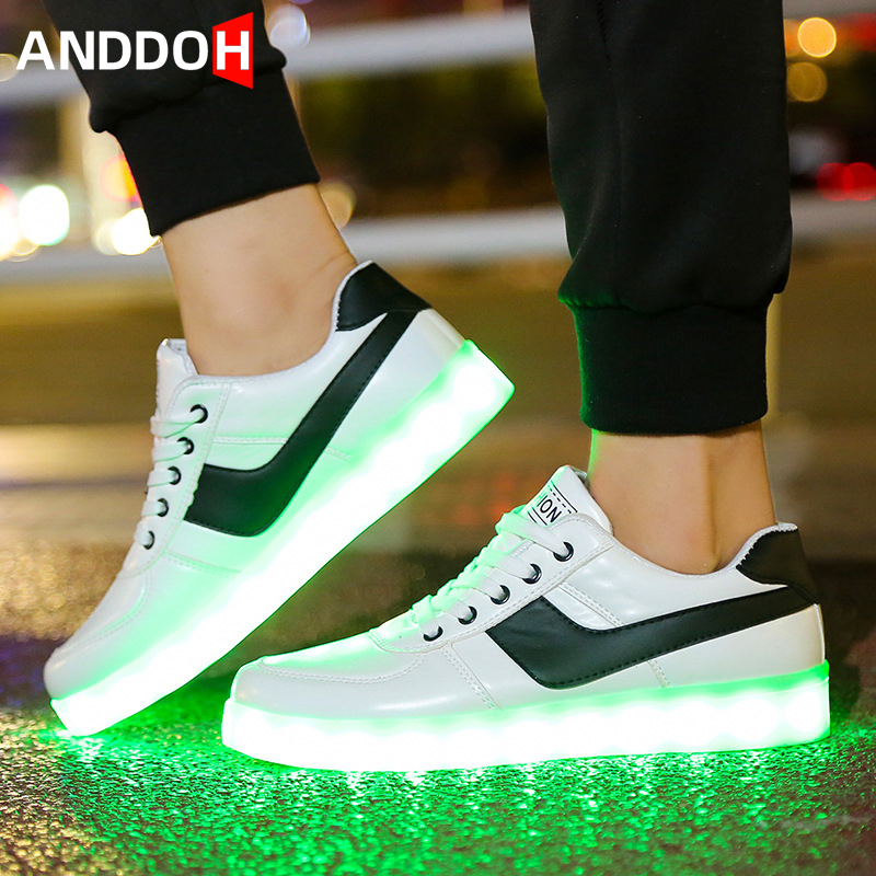 Size 35-45 Unisex Led Light Casual Shoes Luminous Sneakers For Mens&womens USB Charging Glowing Casual Shoes Sneakers Luminous