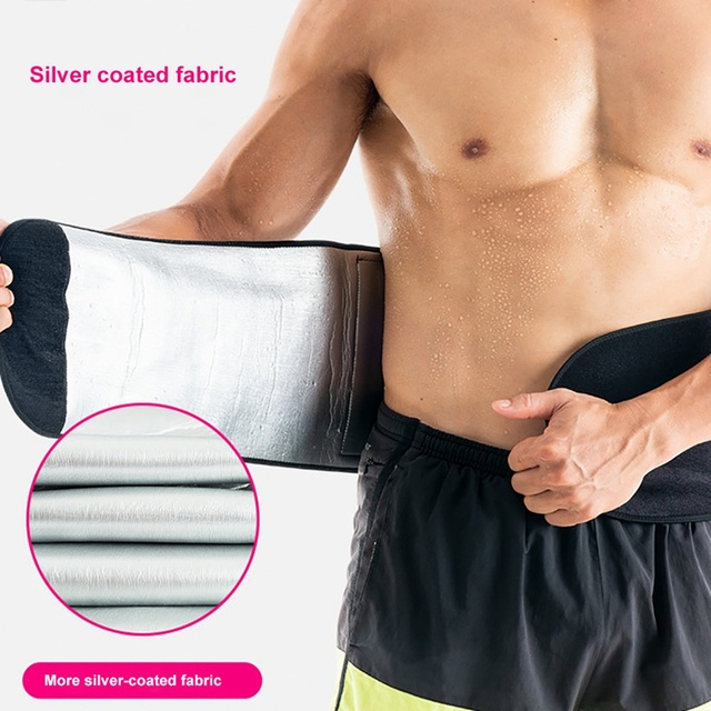 New Waist Belt Adjustable Compression Sweating Slimming Wrap Trainer Exercise Fitness Sportswear Accessories 2