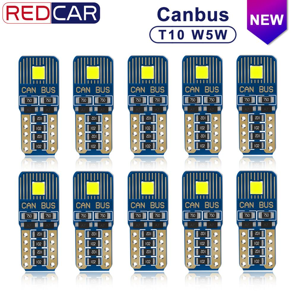 10pcs Canbus Error Free T10 Leb <font><b>Bulb</b></font> <font><b>W5W</b></font> 164 198 Light Car Interior Dome Light FLS35 Chips 6000K Trunk Lamp Parking Lights12V image