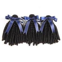 Afro kinky curly bundles braizlian feixes de cabelo humano encaracolado 3/4 pçs extensão do cabelo não remy cabelo para preto
