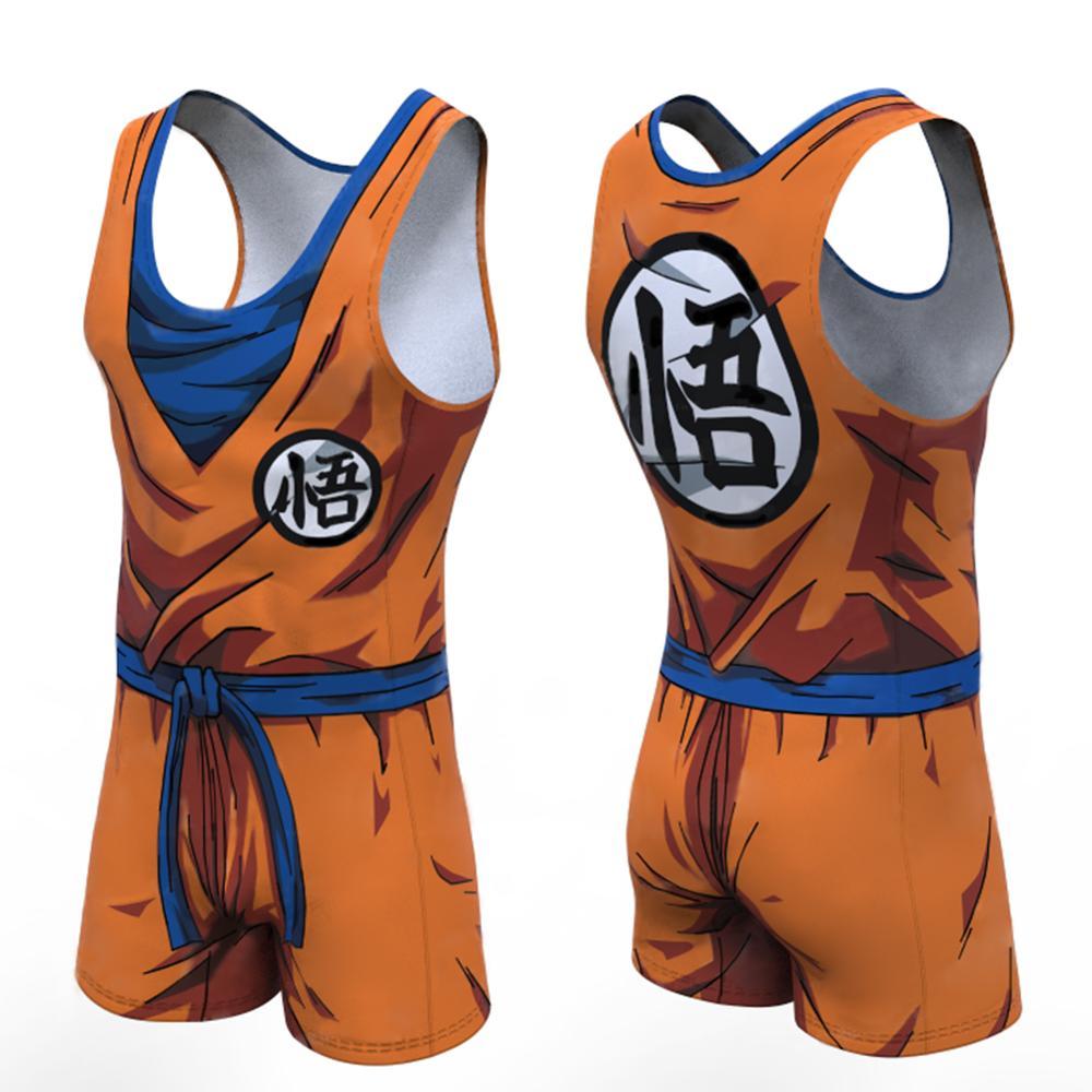 Dragon Ball Z Vegeta Goku Funny Men's Short One Piece Sleeveless Street Casual Cargo Pants Jumpsuit Overalls Shirts