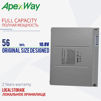 Аккумулятор для ноутбука A1175  56WH для Apple MA348  MA348 */A  MA348G/A  MACBOOK Pro  15 дюймов  A1150  A1260  MA463  MA463LL  MA464  MA600  MA601