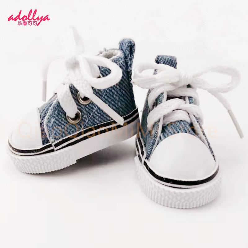 1/6 bjd boneca acessórios sapatos de boneca 5cm alta superior lona bjd bonito doce cor tênis brinquedos para meninas moda sapatos para bonecas