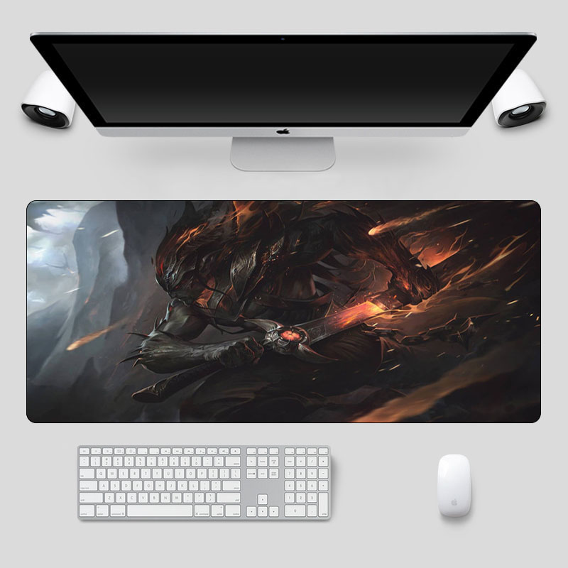 Large Gaming Mouse Pad 70x30cm Yasuo The Unforgiven Computer Duel Mousepad Gamer For League Of Legends Laptop Notebook Desk Mat