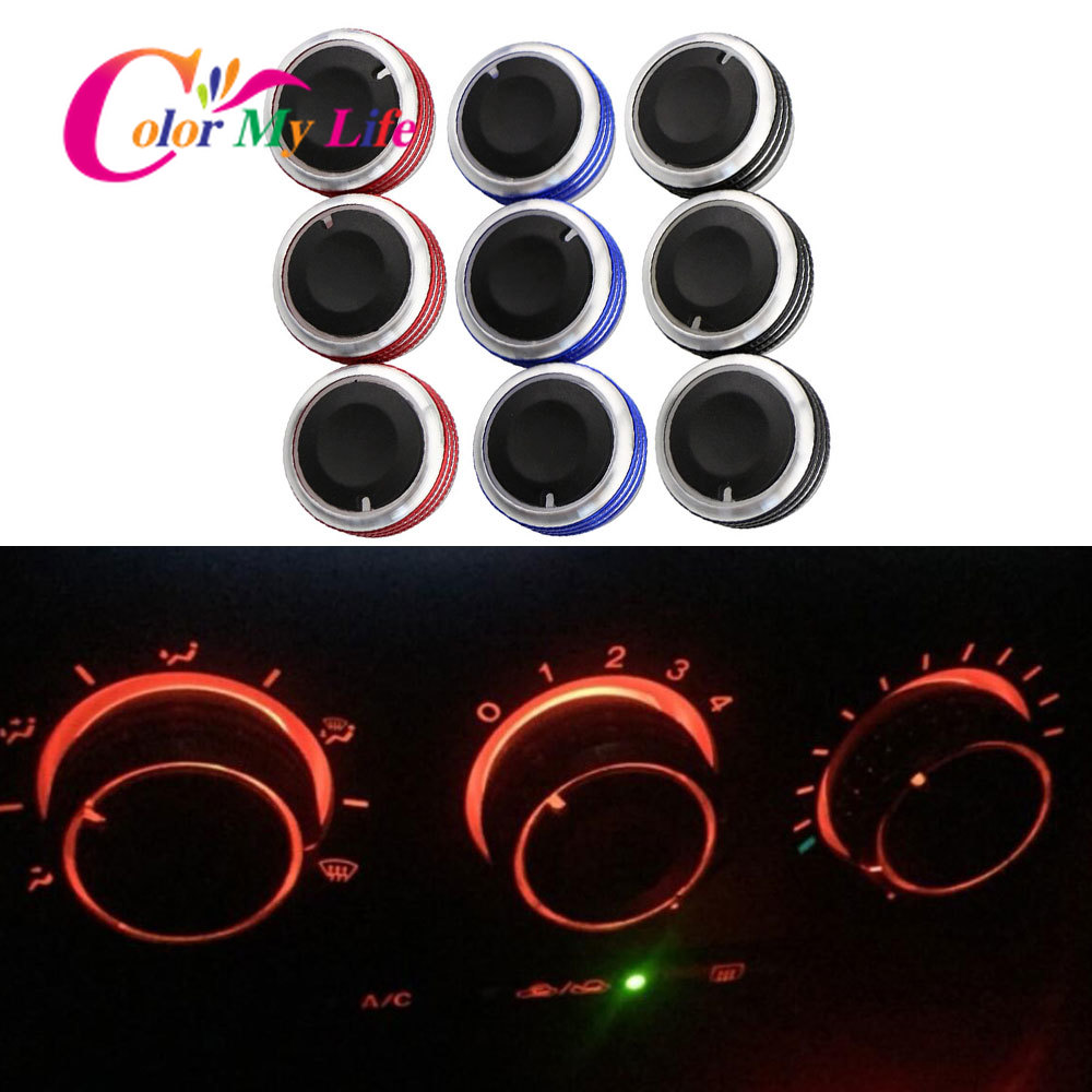 Color My Life A/C Air Condition Panel Control Knob Fit for <font><b>Mazda</b></font> <font><b>3</b></font> M3 2004 2005 2006 <font><b>2007</b></font> 2008 2009 Car <font><b>Accessories</b></font> image