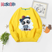 Childrens Clothing 2019 Autumn New Kids Tops Boys Fashion Long Sleeve Pullover Girl Clothes Cartoon Cute Panda Print Sweatshirt