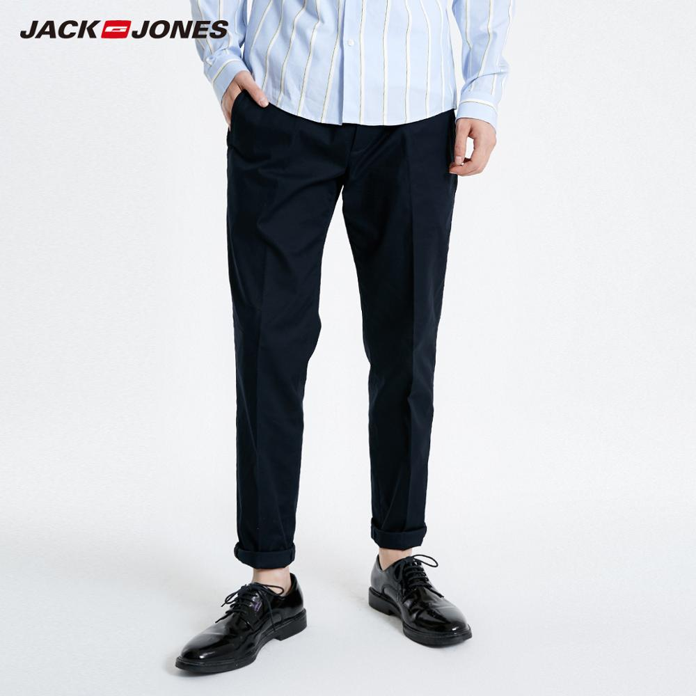 JackJones Men's Stretch Pants Slim Fit Business Casual Basic Menswear 219114548