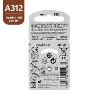 Image 4 - 60 個rayovacピーク補聴器電池A312 312A ZA312 312 PR41 S312 、 60 個補聴器の電池亜鉛空気 312 A312