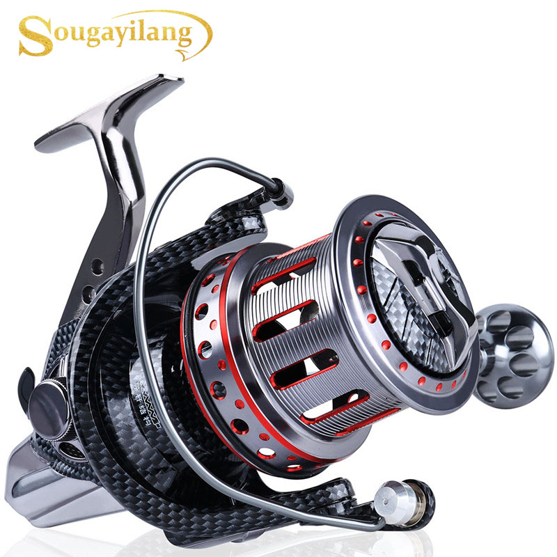 11BB Sea Fishing Reel Ratio 4.7:1 Big Spool Surf Long Casting Trolling Reels Feeder Spinning Fishing Reel Saltwater(China)
