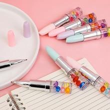 Mohamm Lipstick Gel Pen Creative Stationary School Supplies 0.5mm