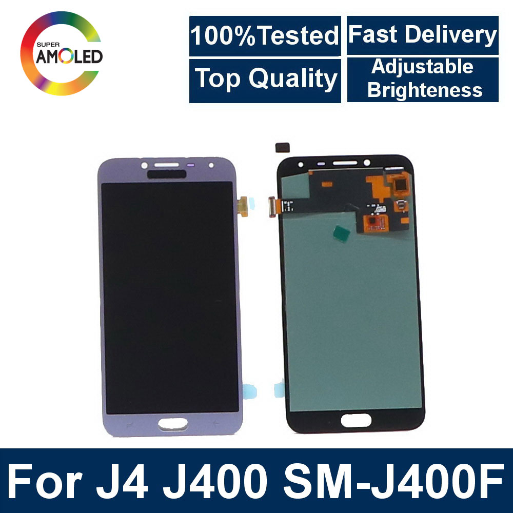 Super AMOLED Module for <font><b>Samsung</b></font> <font><b>Galaxy</b></font> <font><b>J4</b></font> J400 J400F J400G/DS SM-J400F LCD <font><b>Display</b></font> Screen Touch Digitizer Assembly Replacement image