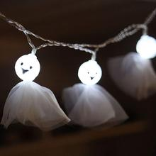3M 20leds Sunny Doll String Lights Novelty led Lights For Halloween Parties Decors Waterproof Battery Powered Outdoor Lighting cheap NoEnName_Null 12 Months Plastic LED Bulbs None Other Dry Battery 300cm 1-5m White 20-50 head Sunny doll Face doll string lights
