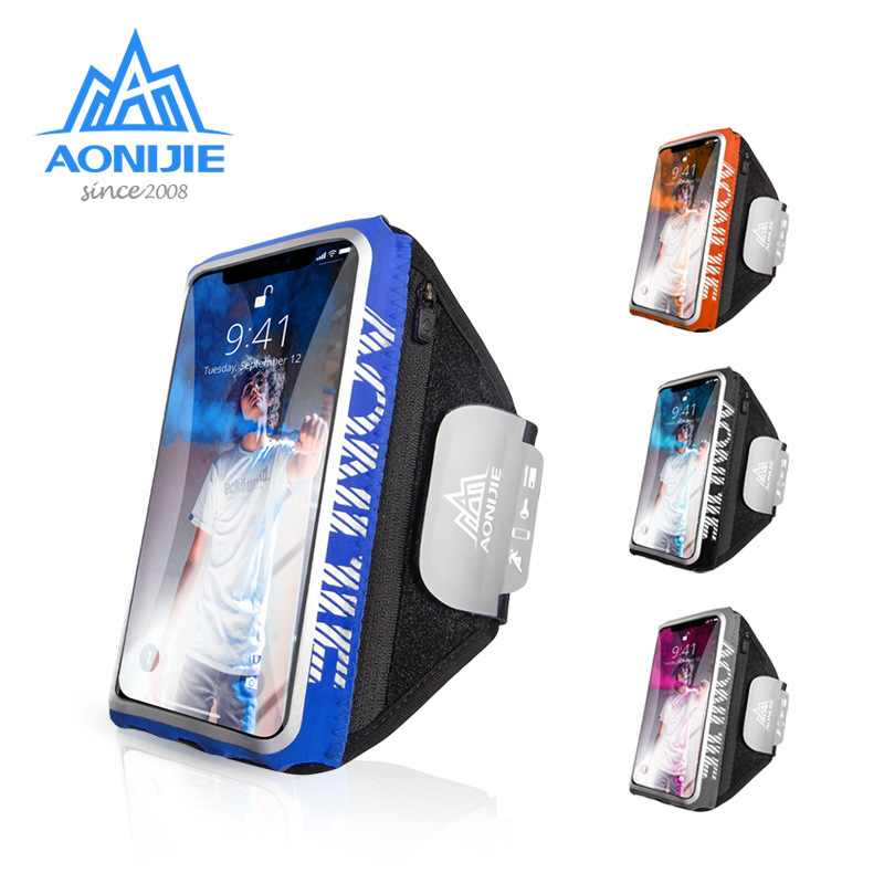 AONIJIE A7101 TPU Touchscreen Cell Mobile Phone Sports Running Armband Arm Bag Band Case Holder Cover For Fitness Gym Workout