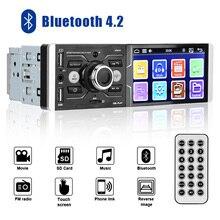LEEPEE Autoradio Stereo Audio Bluetooth 4.2 Voice Control DC 12V 4.1 Touchscreen Car MP5 Video FM Radio Player Multimedia