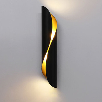 Modern Aluminum tube wall light E27 Light fixtures gold black Nordic restaurant living room aisle corridor balcony wall lamp