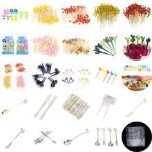 1-100 шт одноразовые бамбуковые вилки, скрученные, вечерние, буфет, фруктовые десерты, еда, коктейль, сэндвич, вилка, палочка, палочка, вертел