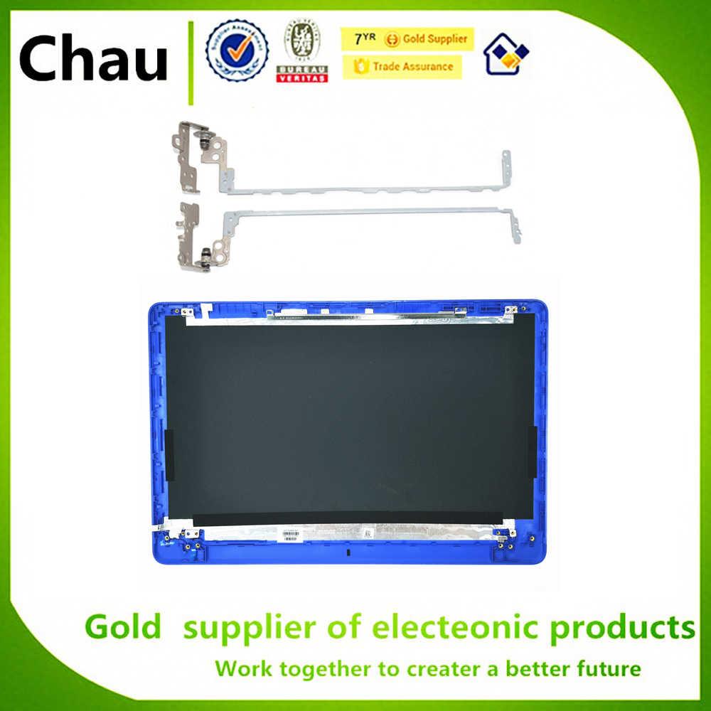 Novo Para HP 15-BS 15-BS033CL 15-BW 250 255 G6 LCD Back Cover/Moldura/Dobradiças Da Tampa Azul 924925- 001 AP204000210 924895-001
