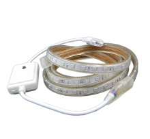 220V RGB LED Strip 5050 5m 10m 15m 20m Waterproof Rope light for outdoor +Control power plug