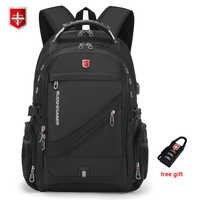 2020 impermeable 17 pulgadas portátil mochila hombres de carga USB de viaje mochila para mujer estilo Oxford mochila hombre Vintage bolsa de la escuela mochila