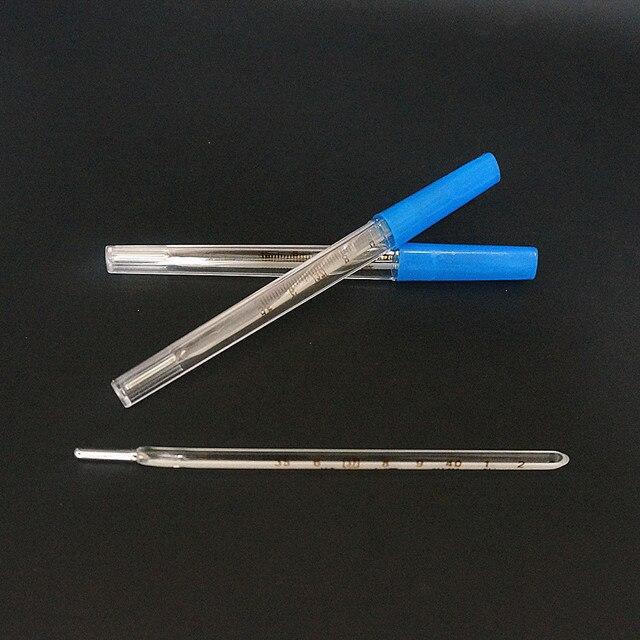 10 Stks/pak Glas Klinische Thermometer Medische Kwik Groot Scherm Voor Baby Kind Volwassenen Koorts Test Thermometer